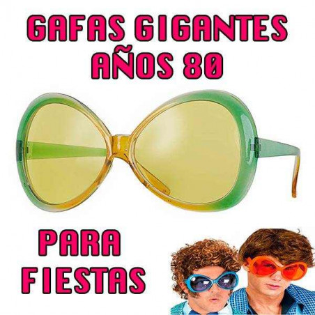 Gafas grandes años 80