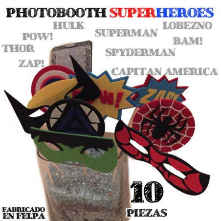 10 complementos fiesta Superhéroes