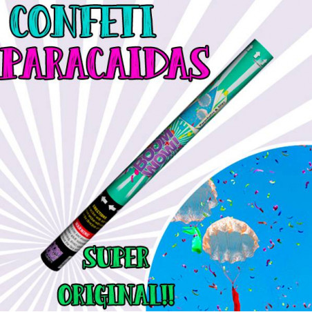 CAÑÓN CONFETI PARACAIDAS 60CM