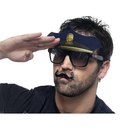Gafas policia con bigote photocall