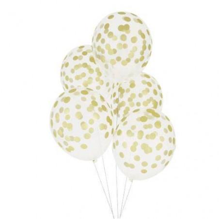 Globos transparentes lunares dorados