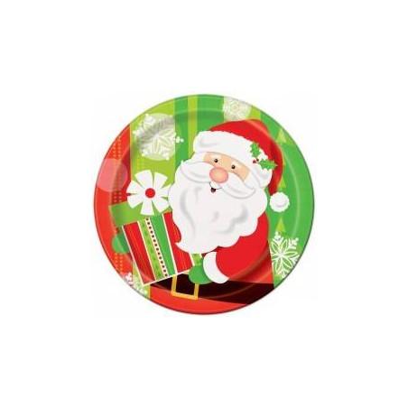 Platos de papel Papá Noel
