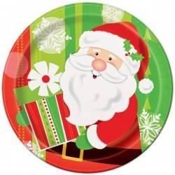 platos cartón navidad desechables