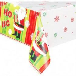 mantel navideño de papa noel