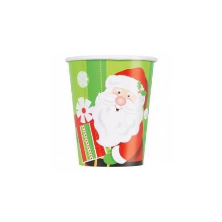 vasos de papel navidad