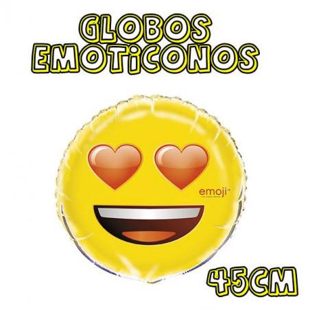 globos emoticono ojos corazones