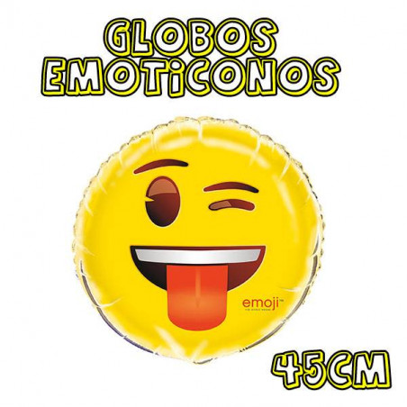 globos emoticono guiño lengua fuera
