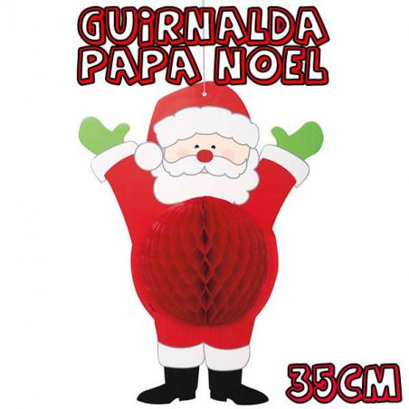 guirnalda papa noel 35cm