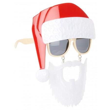 Gafas gorro papa noel y barba