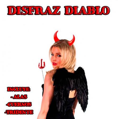 Disfraz diablo alas negras