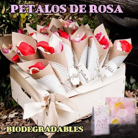 Caja de pétalos de rosas colores surtidos