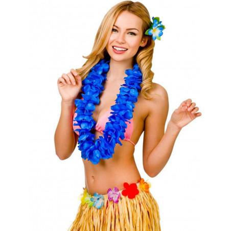Collares Hawaianos neon azules
