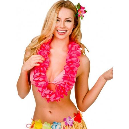 Collares Hawaianos neon rosas