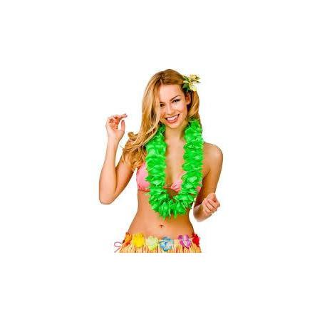 Collares Hawaianos neon verdes