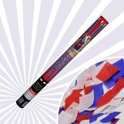 cañón confeti bandera americana