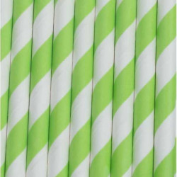 pajitas verdes lima